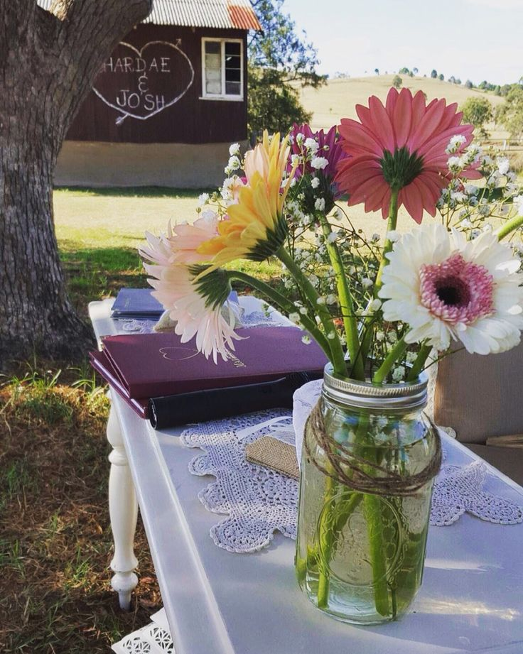 Ceremony signing table vintage shabby chic home wedding