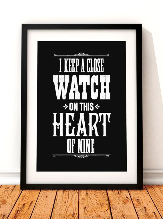 Johnny Cash song lyric art Johnny Cash art print by TheIndoorType, £10.99