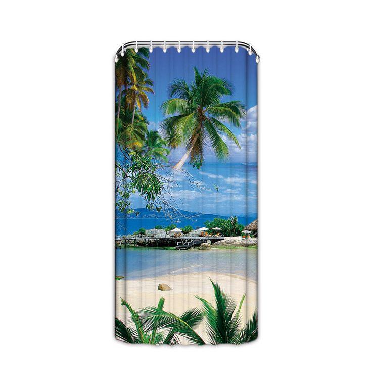 Desert Island Beach: Tropical Beach Desert Island Blue Sea Palm Trees Bathroom