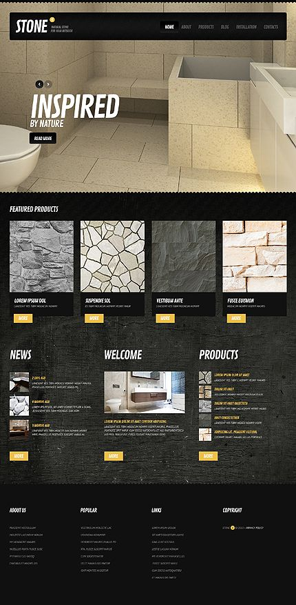 The 53 best Interior  Furniture Website Templates images on