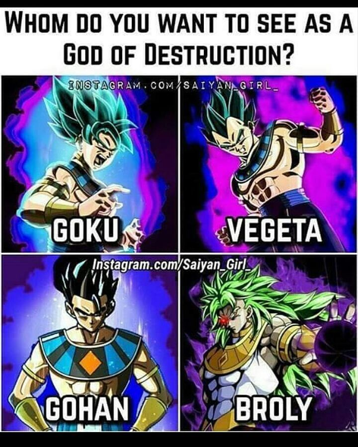 14 Likes 2 Comments Dbs Saiyans On Instagram Which One Pls Like Follow For More Dbs Saiya Anime Dragon Ball Super Anime Dragon Ball Dragon Ball Image