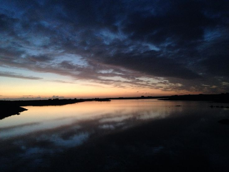 Evening light fading Benbecula Outer Hebrides