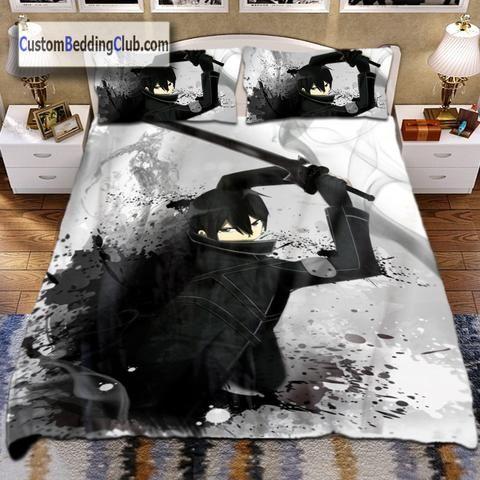 Sword Art Online Blanket Bed Set Sheets Kirito Model Sword