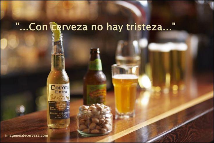 cerveza corona con una frase