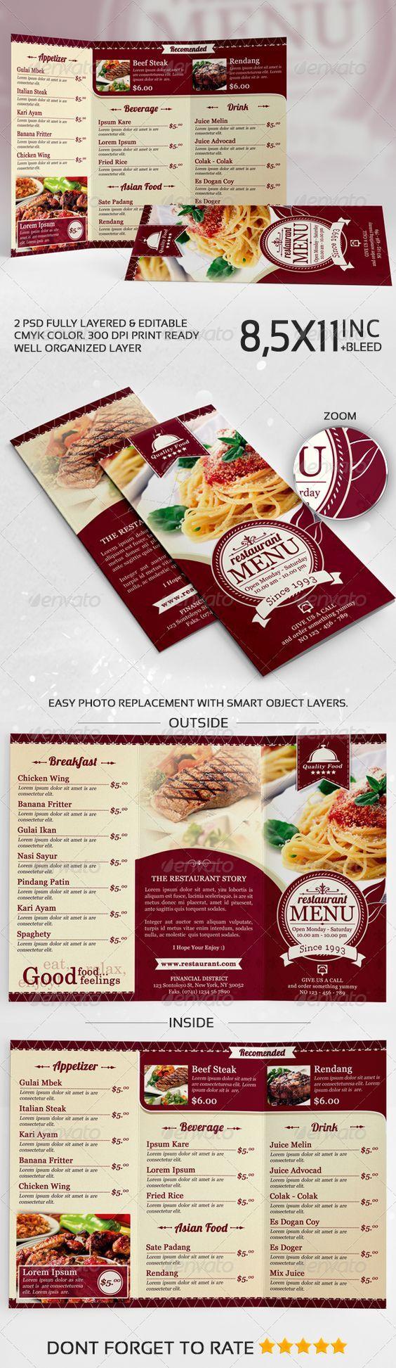 196 best Дизайн Меню images on Pinterest | Restaurant menu design ...