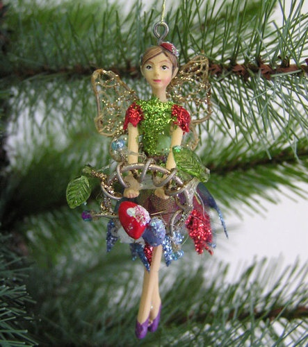 Christmas Fairy Decorations: Gisela Graham Christmas Resin And Fabric Woodland Fairy