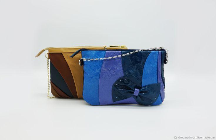 """Кожаная сумочка-клатч """"Полосатик"""" – купить в интернет-магазине на Ярмарке Мастеров с доставкой - EV4PLRU"""