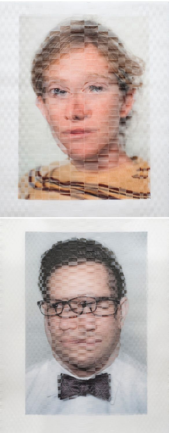 David Samuel Stern Each of these portraits is the result of physically weaving together two photographic prints of the same sitter