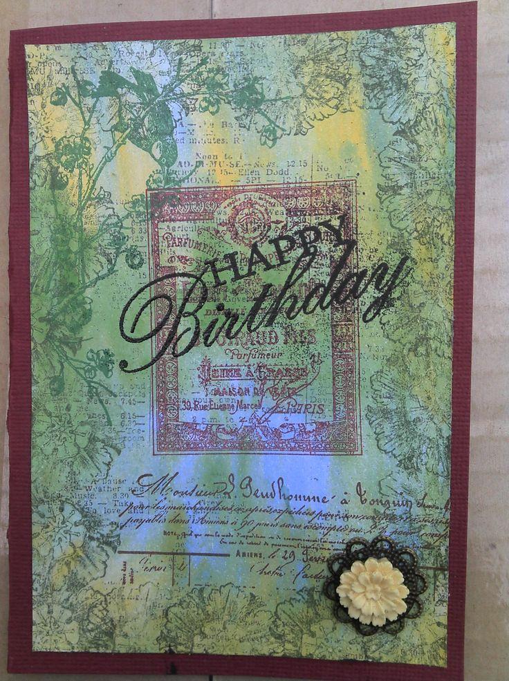 card using the Kaszazz Esprit Verveine stamp set