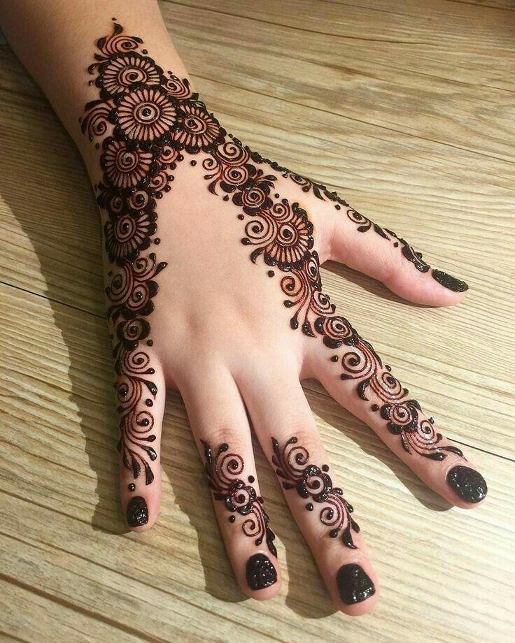 Hand Henna Engagement Mehndi Designs Mehndi Designs For Hands