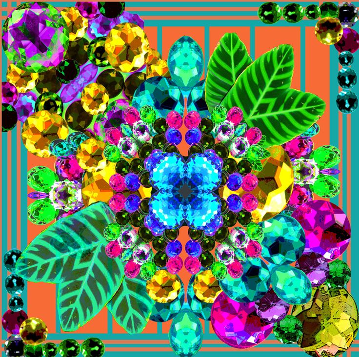 Scarf Design 1 Kaleidoscopic Jewels