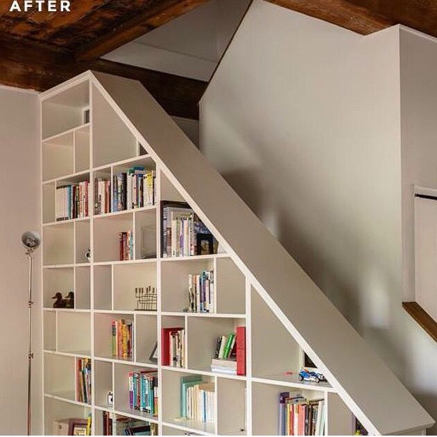 library and upstairs