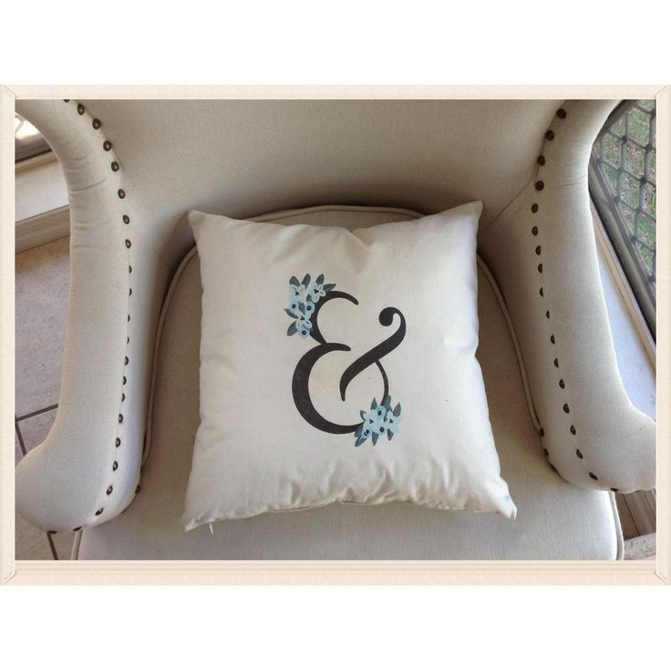 $15 Vintage Ampersand Print Cushion Cover by IsabelleMaryCreations on Handmade Australia