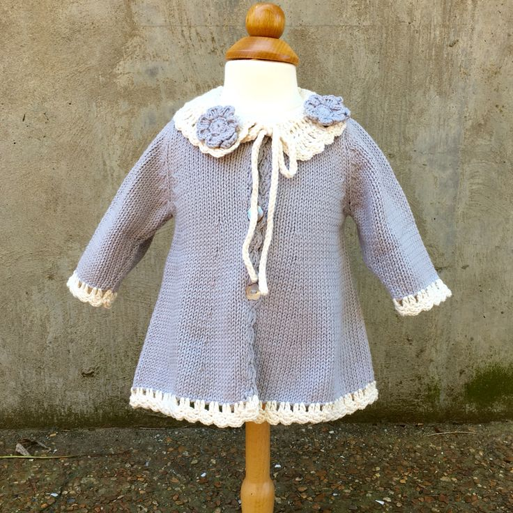 Beautiful hand knit cotton sweater custom designed for The Little Cottage prices start at $61-$68 #baby #knitsweater #babysweater #handknit #sweater
