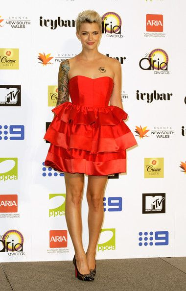 TV personality Ruby Rose poses in the Awards Room backstage at the 2009 ARIA Awards at Acer Arena on November 26, 2009 in Sydney, Australia.