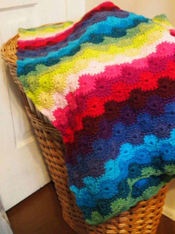 Catherine Wheel Stitch Baby Blanket Pattern