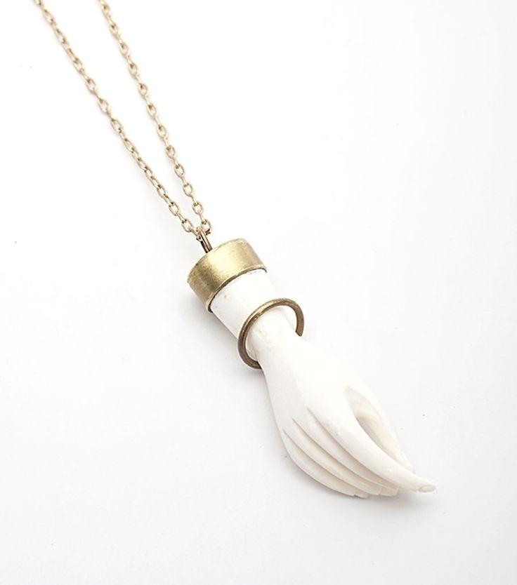 Edwardian Hand Necklace from Catbird. It's a little bit strange and a little bit gorgeous.