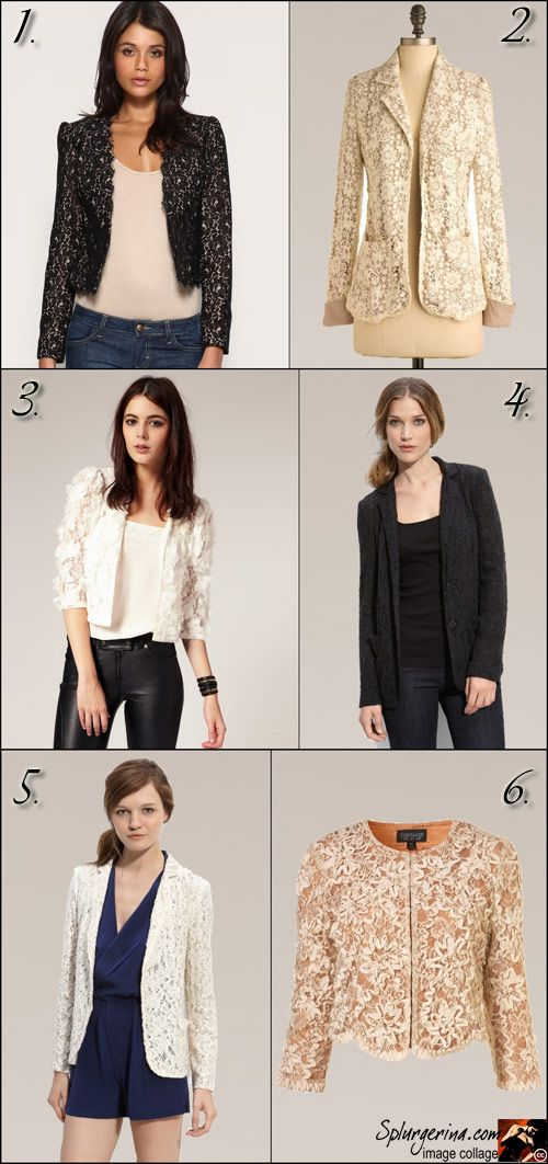 How to wear a lace blazer/jacket