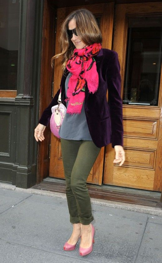 sarah jessica parker scarf | Photo courtesy: www.hollywoodlife.com