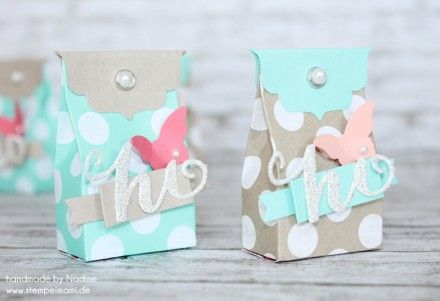 Goodie Stampin Up Verpackung Box One Sheet Box Give Away Gift 013