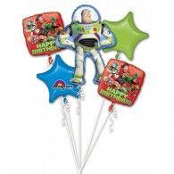 Toy Story Bouquet 1 x Super Shape & 4 x 45cm Pkt5 $49.95 U30068