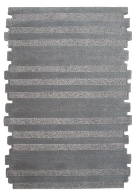 A top shot of 'Maestro Timber - Gunmetal' by Limited Edition. Maestro is made out of wool and silk. | www.le.be | Collection 2015 #bespoke #rugs #carpets #madeinbelgium #grey #soft #stripes #tufted