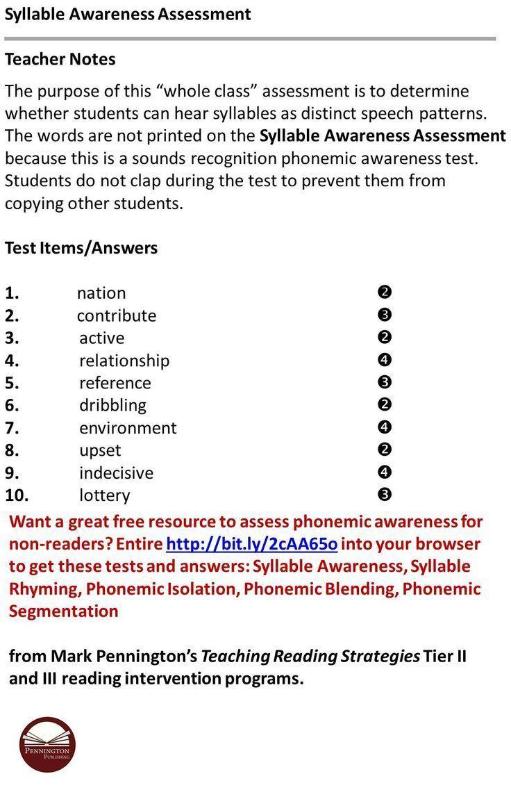 Workbooks rhyming patterns worksheets : 85 best Syllable Worksheets images on Pinterest | English language ...