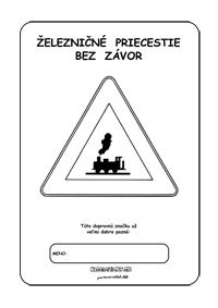 Dopravné značky - omaľovánky - železničné priecestie