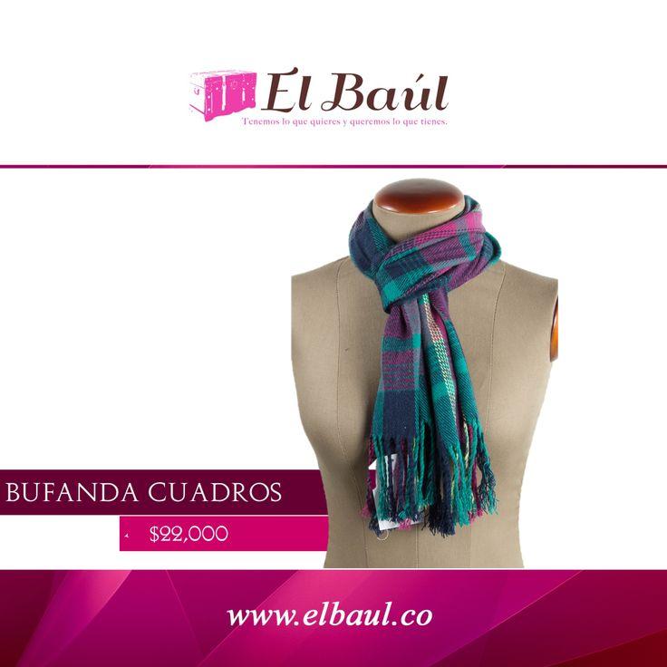 Los accesorios le dan actitud tu atuendo, un buen accesorio te hace inolvidable. $22,000 http://elbaul.co/Productos/1896/Bufanda-cuadros-violeta/verde-