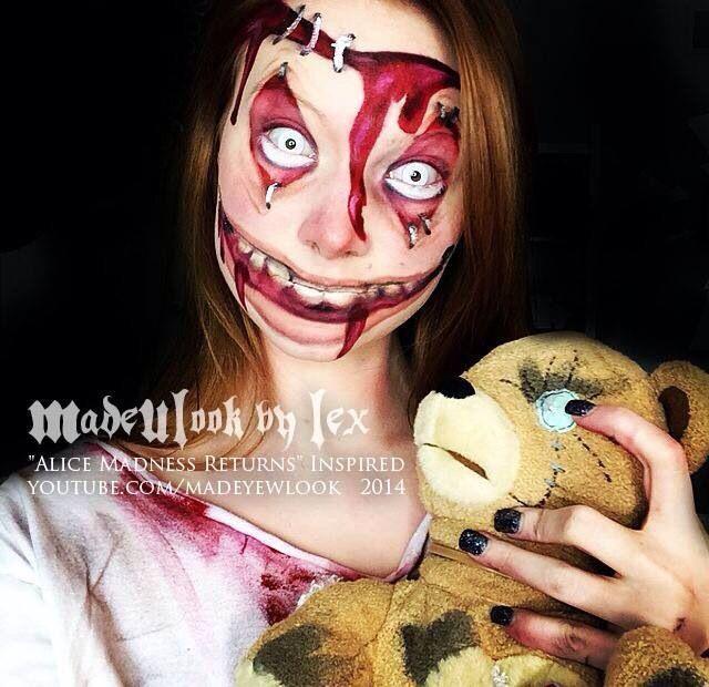 Impressively Terrifying Halloween Makeup Jobs You Can Do! - Insane/Asylum Child   Guff