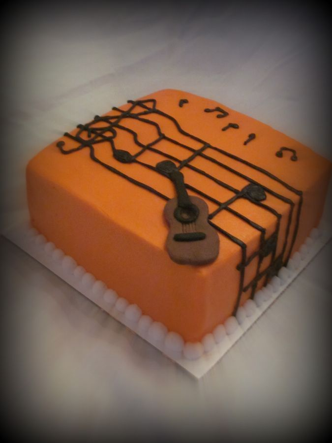 Guitar Cake Images With Name : 39 best Megan birthday images on Pinterest Guitar cake ...