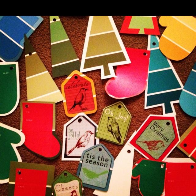 Homemade gift tags!
