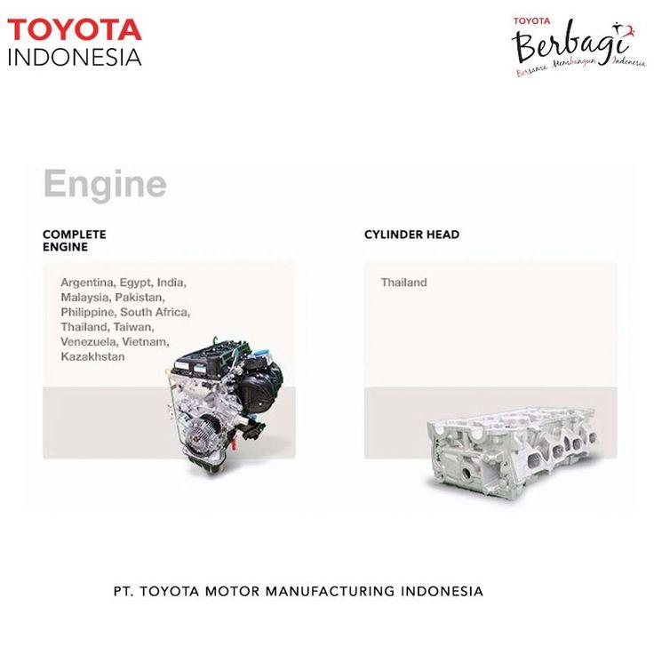 Tidak hanya mobil hasil produksi TMMIN yang diekspor ke mancanegara, tetapi juga mesin hasil yang selama ini di produksi di Sunter Plant sudah mencapai ekspor ke berbagai negara.#TMMINspirasi