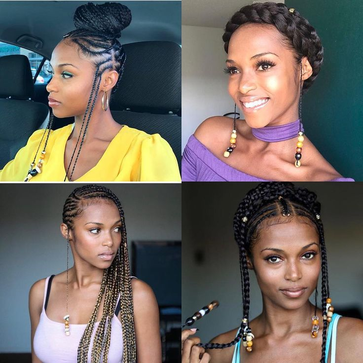Which was your favorite #braidsandbeads style? 1 2 3 4 #blackhairchallenge Go ahead and visit my channel to see how I did all these braid and bead styles on myself✨Link in bio✨