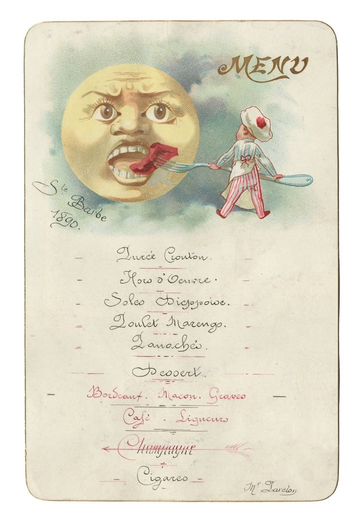 Best French Menu Art Images On   Vintage Menu French