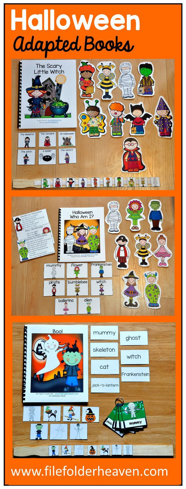 So many fun Halloween Adapted Books this season that focus on basic vocabulary, -wh questions, and sequencing.
