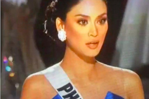 At the 2015 Miss Universe pageant, which aired live on Sunday night, host Steve Harvey announced that Miss Colombia, Ariadna Gutierrez, had won. | The Crowning At This Year's Miss Universe Pageant Was Awkward AF