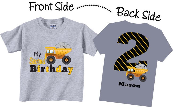 2nd Birthday Shirts for Boys with Dumptruck Tees by TheCuteTee on Etsy https://www.etsy.com/listing/158072485/2nd-birthday-shirts-for-boys-with