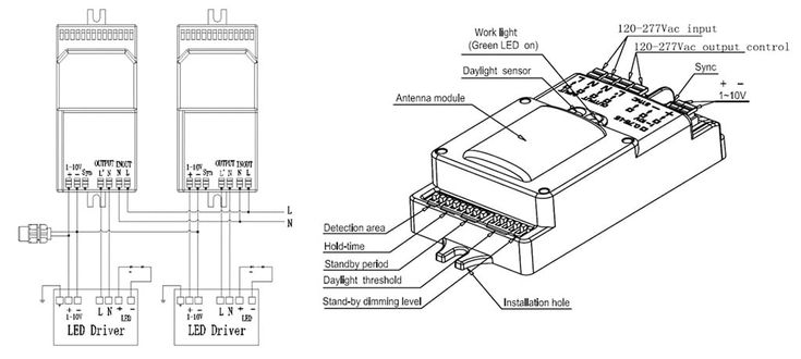 LED Shoebox Light Wiring Diagram with Motion Sensor