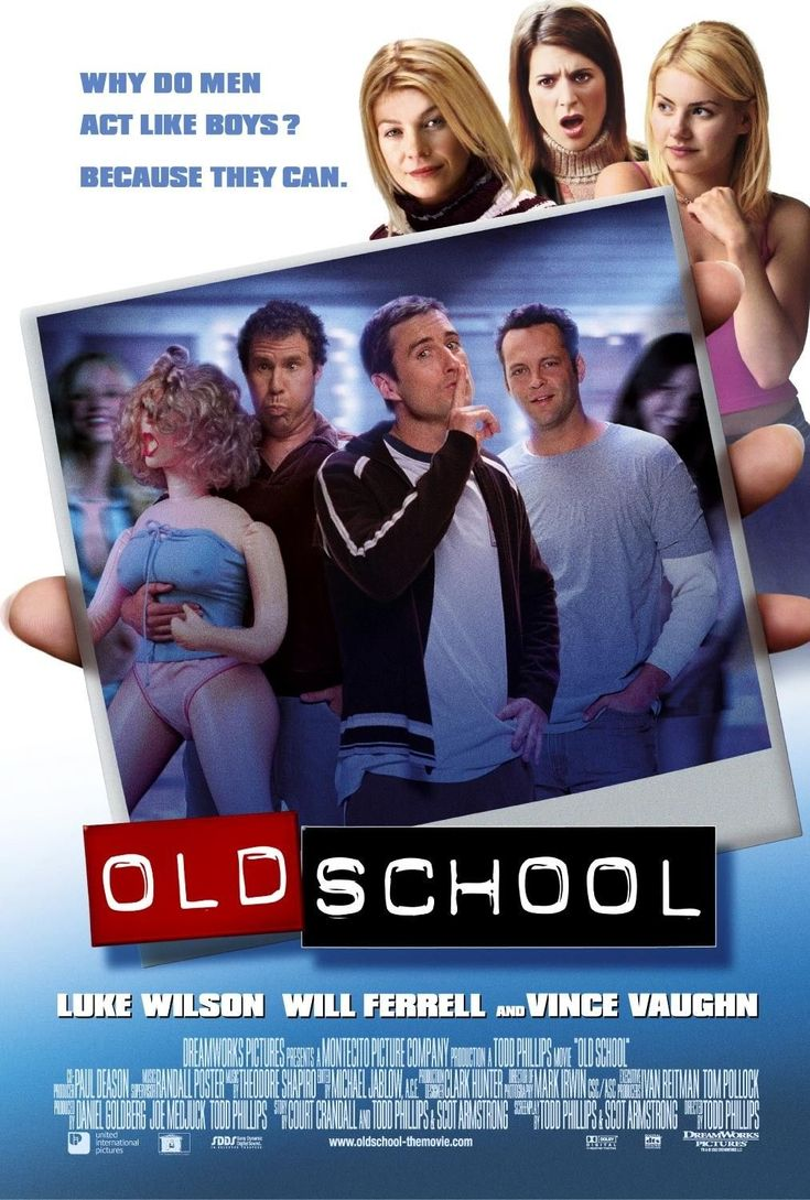 Old School , starring Luke Wilson, Vince Vaughn, Will Ferrell, Jeremy Piven. Three friends attempt to recapture their glory days by opening up a fraternity near their alma mater. #Comedy
