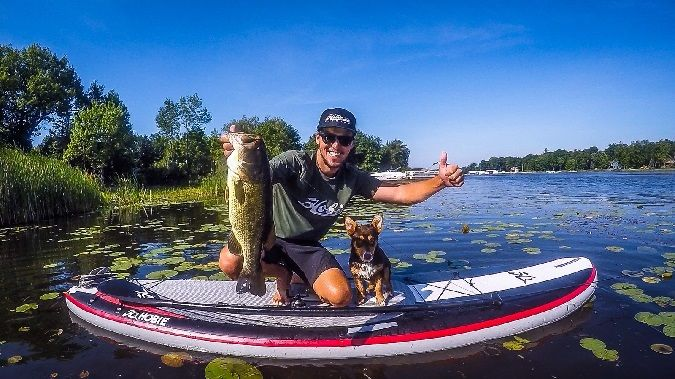 Bassmaster elite series pro carl jocumsen s tips for sup for Best fishing sup