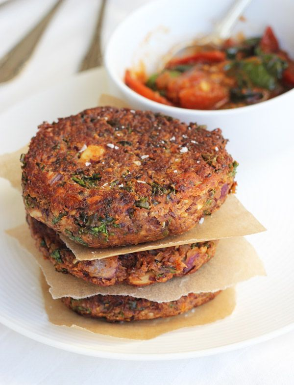 "Chunky, smokey kidney bean burgers with a crispy surface and deep ""meaty"" flavor."