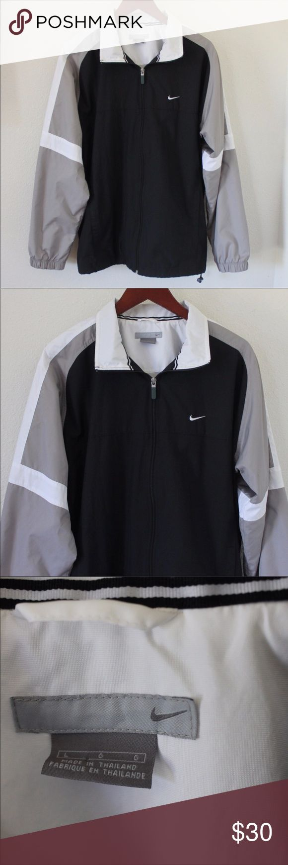 Nike vintage windbreaker Bought this on here but never wear it! Super cute NO FLAWS. Hit me with a price Nike Jackets & Coats