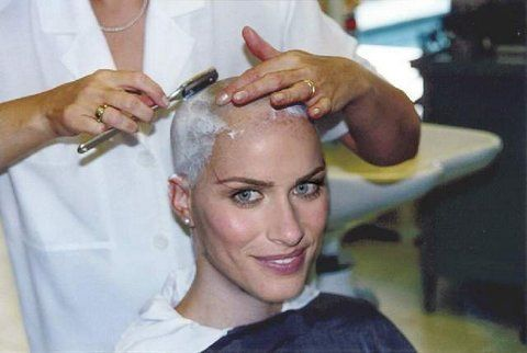 Shaver Bald Women Fetish 29