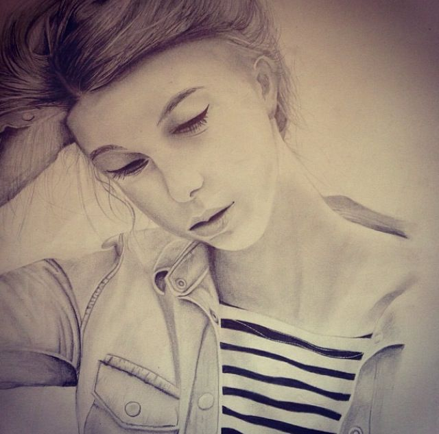 Pencil drawing of my best friend