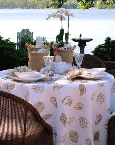 Beach Theme Entertaining Outdoors  5 Creative Table Decor Ideas