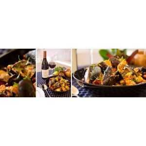 Mussels with Chorizo and Red pepper Pesto with Protea Reserve