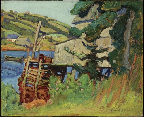 Petite Rivière, Nova Scotia, 1922J.E.H. MacDonald Canadian, 1873 - 1932Oil on laminated fireboardOverall: 21.5 x 26.5 cmGift from the J.S. McLean Collection, by Canada Packers Inc., 1990© 2013 Art Gallery of Ontario