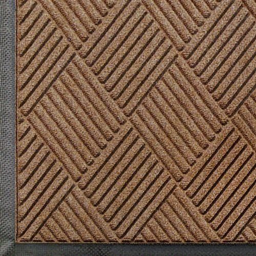 """Andersen 208 Medium Brown Polypropylene WaterHog Classic Diamond Entrance Mat, 6' Length x 3' Width, For Indoor/Outdoor by Andersen. $83.17. Perfect for most applications inside or out, WaterHog Classic Diamond's unique design makes it revolutionary. The rubber reinforced face nubs and diamond design provide crush proof scraping action. The raised rubber """"water dam"""" border traps dirt and water – keeping them off carpet and floors. Premium 24 oz/sq anti-static Polyp..."""