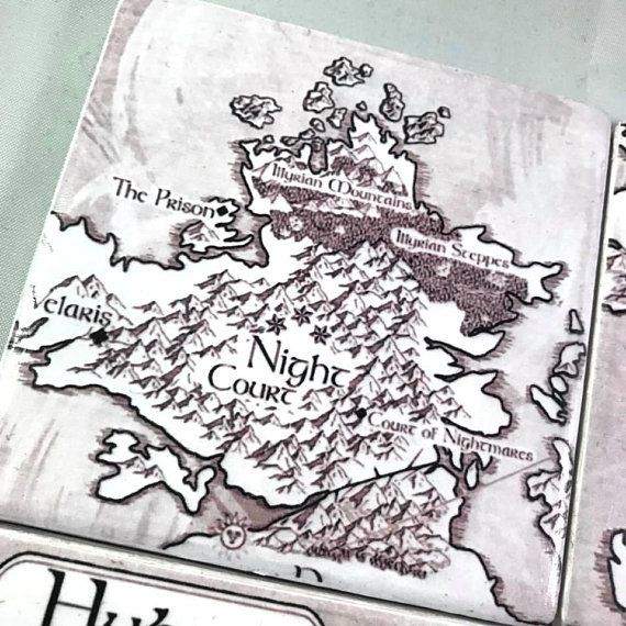 Prythian Map Tile Coasters A Court Of Thorns And Roses Series